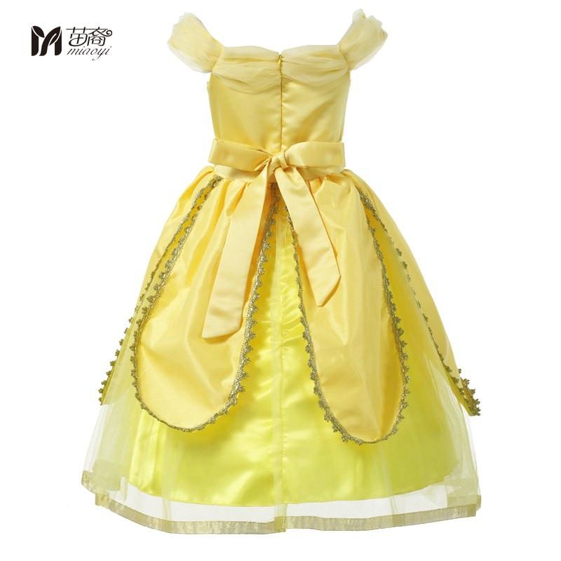 Miao Yi Girls Princess Beautiful Dress Kids Flowers Yellow Party Cosplay Costume Kids Girl  Dress Up Ball Petal Fantasy<br>