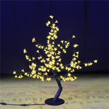0.8M /2.6ft height LED Cherry Blossom Tree Outdoor indoor Wedding Garden Holiday Light Decor 240PCS yellow LEDs