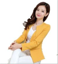 New Fashion Women Slim Blazer Coat Casual Jacket Sleeve One Button Suit Outerwear blazer feminino Ladies Blazers jackets Y68(China)