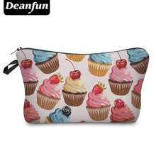 Deanfun 3D Printed Cake Pattern Storage Makeup Organizer for Travelling Cute Cosmetic Bags with Zipper 50929