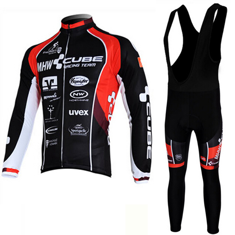 New Cycling Jersey Long Sleeve Racing Bike cube Cycling Clothing MTB Cycle Clothes Wear Ropa Ciclismo Sportswear<br>