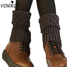 Hot Sale New Ladies Crochet Knitted Simple Design Boot Cuffs Toppers Knit Leg Warmers for Women Winter Short Liner Boot Socks