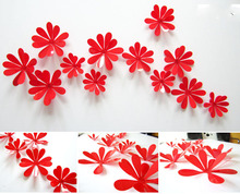 12pcs 3d free shipping Diy home decoration tv wall stick decoration mirror wall stickers,best gift free shipping!