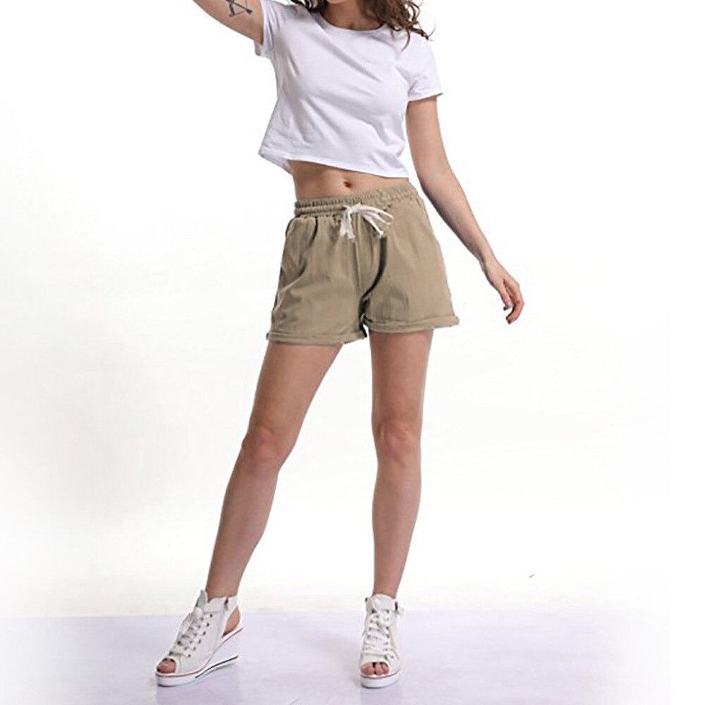 cf22546e21 ... Summer Women's Pants New Elastic Waist Activewear Yoga Lounge Shorts  Pockets Beach Casual Shorts Wholesale And ...