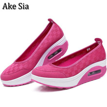 Ake Sia Newest Arrival Summer Womens Lightweight Breathable Air Mesh Casual Shoes Female Sponge Cake Mujer Zapatillas Shoes F025(China)