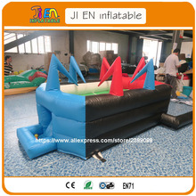 FREE delivery commercial use inflatable table hockey game /air table twister game / carnival games for kids and adult(China)