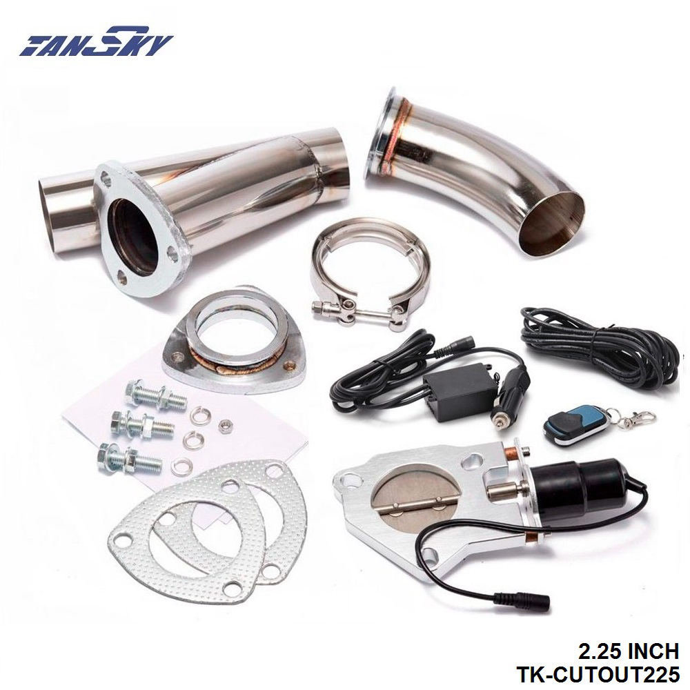 """TANSKY - 2.25"""" Electric Cutout/E-Cut Out Valve System+Remote for Exhaust Catback/Downpipe For Ford FOCUS 1.8/2.0/ TK-CUTOUT225"""