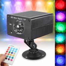 Rectangle Magic Crystal Remote Control LED Water Ripples Ocean Night Lamp Stage Light DJ Club Pub Disco Party Show Lighting(China)