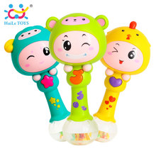 HUILE TOYS 3101 Baby Shaker Sand Hammer Toy Dynamic Rhythm Stick Baby Rattles Kids Musical Party Favor Musical Instrument Toys(China)