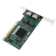 PCI 32Bit  PCB board 10/100/1000Mbps Dual RJ45 Port Interface Gigabit Ethernet Lan Network Card