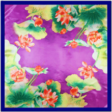 new scarf Hangzhou west lake Chinese wind lotus ladies scarves big squares 90 cm * 90 cm