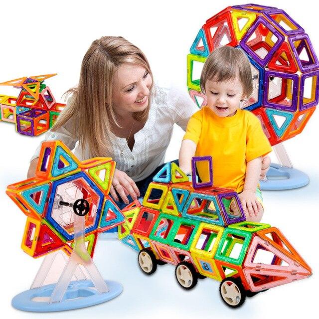 Hot 128PCS Mini Building Blocks Magnetic construction magnetic Designer Toys For Kids model build kits Magnetic Building Blocks<br>
