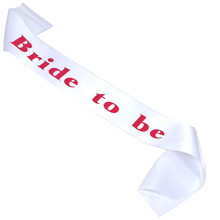 3pcs bride to be sash bridesmaid satin pink white black red ribbon hen bachelorette party supplies wedding event mariage favor