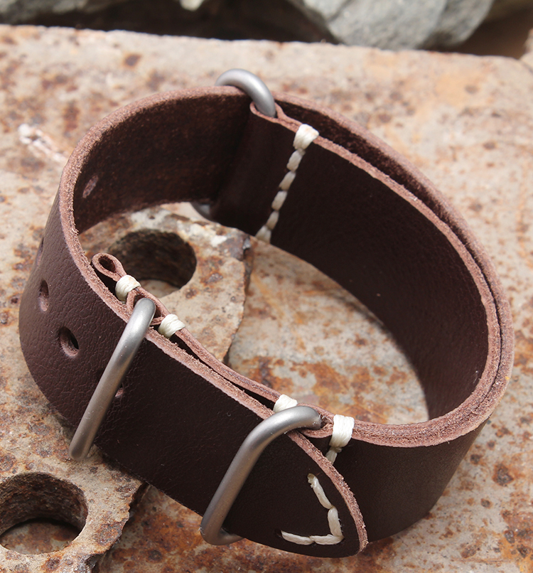 24mm New High Quality Soft Brown Genuine Leather Watch Bands Strap Bracelets Free Shipping<br><br>Aliexpress