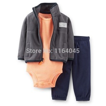LSL3-010,Original, Baby Boys 3-Piece Microfleece Cardigan Set, For Spring And Autumn Wear, Super Quality, Free Shipping