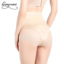 Lace Shaping High Waist Brief Basic Control Panty Slimming underwear Seamless Tummy trimmer Invisible body Shaper(China)