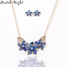 Match-Right Women Necklace Flower Statement Necklaces Pendants Trendy Jewelry Enamel Necklace Women Accessories KK020(China)