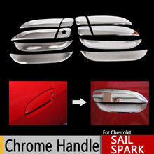 for Chevrolet Sail 2010-2015 Sail Classic Chrome Door Handles Covers Chevy Chromium Styling Car Accessories Stickers Car Styling