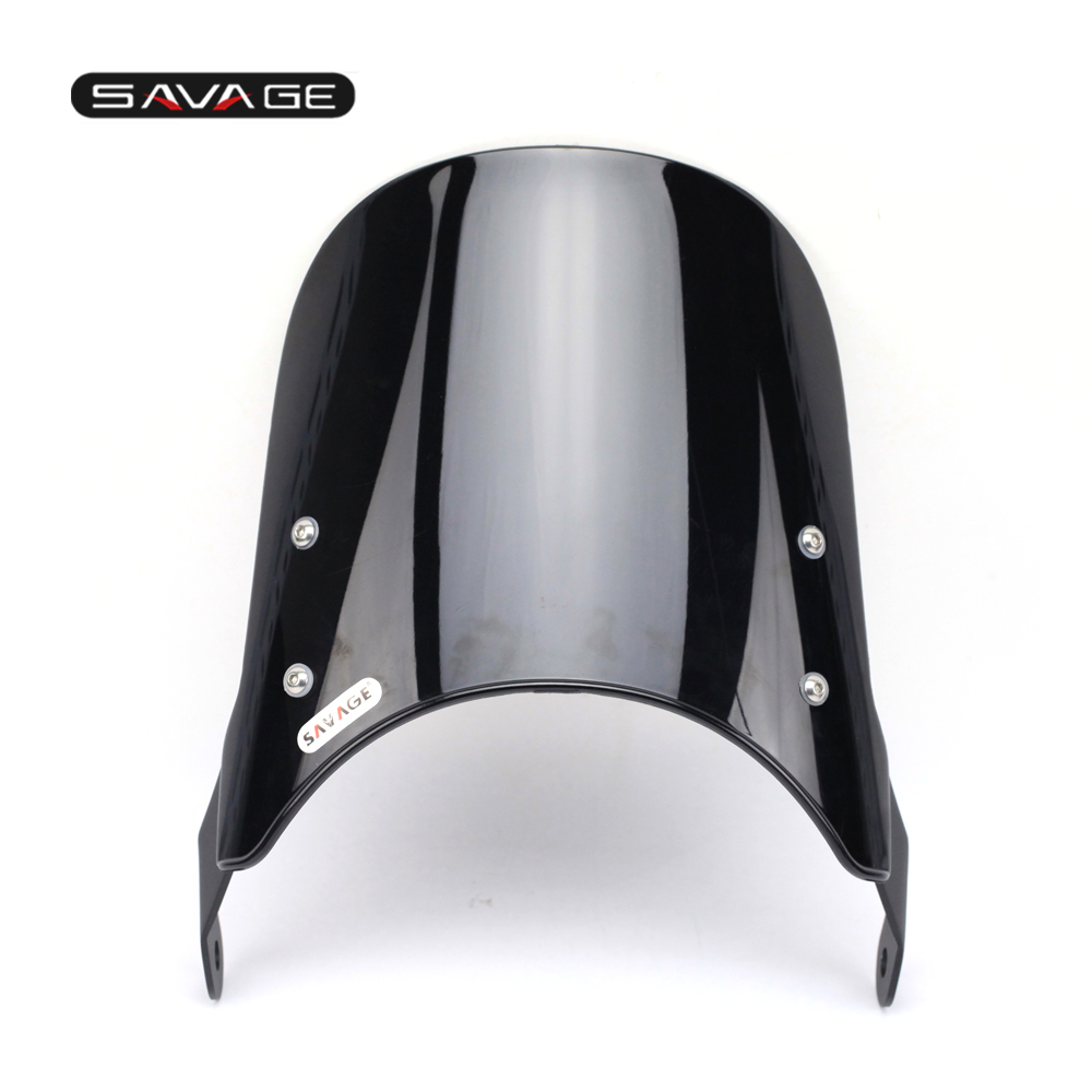 Windshield For YAMAHA XJ400 XJ600S Diversion XJR1200 XJR1300 Windscreen Pare-brise Black Motorcycle 7 Round Headlight<br>