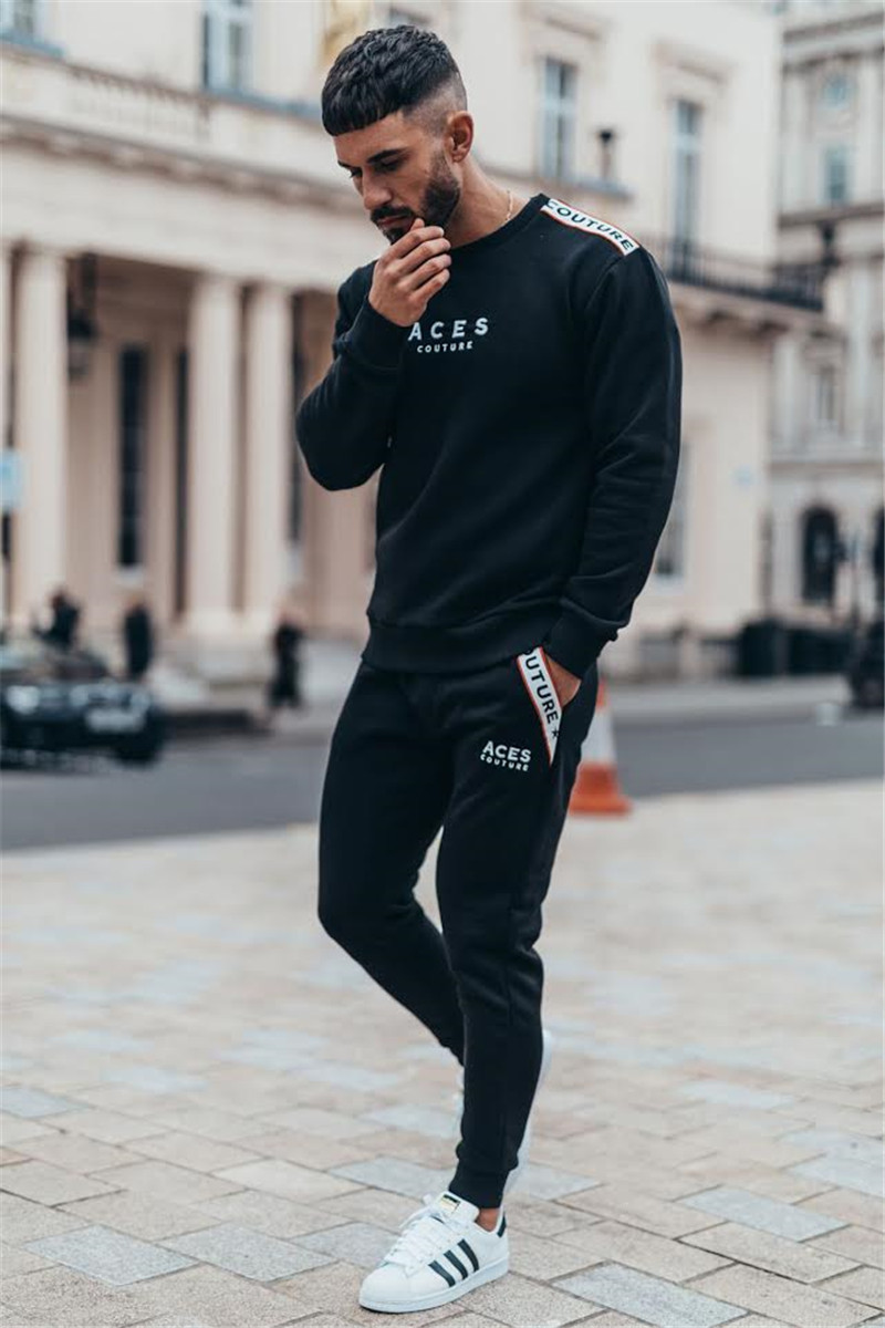 New boutique Brand Gyms Fitness Mens Joggers Casual Men Sweatpants Joggers Trousers Sporting Clothing Bodybuilding Pants men 3