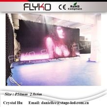 China led curtain RGB3in1 led display screen girl sexy xxx video charming attractive P50mm 2.8x6m(China)