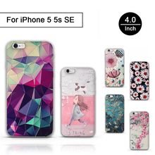 For iPhone 5 5S Case Silicone 3D Painting For Apple iPhone 5 S 5SE Cover Protector Back Cover Stereo Relief Cases Priting Shells