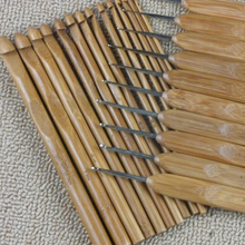Best Sale 12pcs/Set 12 Sizes Smooth Home DIY Brand Knitting Tools of Carbonized Bamboo Knitting Needles Handle Crochet Hook