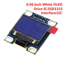 0.96 Inch IIC Serial White OLED Display Module 128X64 I2C SSD1315 12864 LCD Screen Board GND VDD SCK SDA for arduino Diy Kit(China)