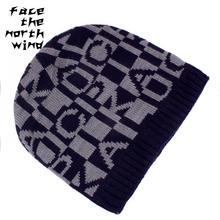 Winter Hat Circle jacquard knit cap Men's cap Ice cap Winter cap 57-59cm(China)