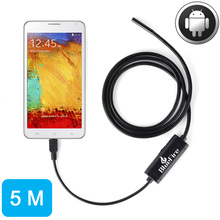 5M Android OTG Endoscope 7mm Mini Waterproof Endoscope Inspection Tube Pipe Camera for Samsung Galaxy S5 S6 Note 2 3 4(China)