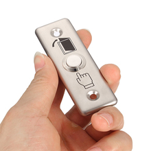 10 PCS Small Aluminium Alloy Door access button Emergency alarm Push button auto restoration Panic alarm release(China)