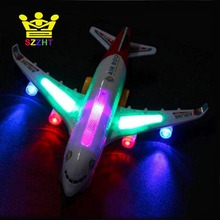 Airbus A380 Plane Model Toys Automatic Airplane with Musical Flashing Light Electric Aeroplane Kids Educational toy for Children