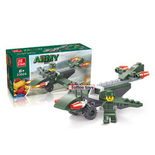 53pcs Red Alert Toy for Boys Military Glider Fighter Aircraft Bricks Kids Building Blocks Toy Plane Children Blocks Gifts K2508
