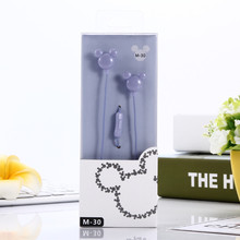 Candy color Mickey In-Ear Earphone for iphone Mp3 Mp4 cell phone computer 3.5mm plug clear bass(China)