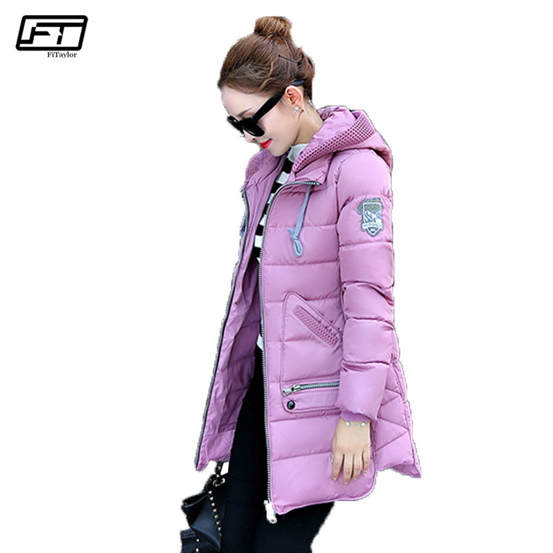 Fitaylor Plus Size 6xl Hooded Winter Jacket Women 2017 Slim Long Parkas Mujer Black Pedded Coat Female Thick Warm OvercoatsÎäåæäà è àêñåññóàðû<br><br>