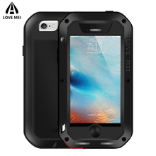 Love Mei Case For iPhone 5 5s SE Cover Shockproof Waterproof Metal Armor Aluminum Case For iPhone5 5s SE Powerful Outdoor Cover(China)