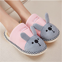 2017 Indoor Slippers New Arrival Plush Pvc Flock Slippers Winter Fluffy Cotton Shoes Young And Home Jufang Huayuezi Flange Cute