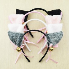 Hair accessories Cosplay Lolita Maid Gum for Hair Party Neko Hair Band Headband Bow Cat Ears PS A1601a