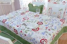 Elegant Red Peony Print Dining Table Set Modern Mint Green Table Cloths Fashion Little Polka Dot Table Cloth Lace Tablecloth