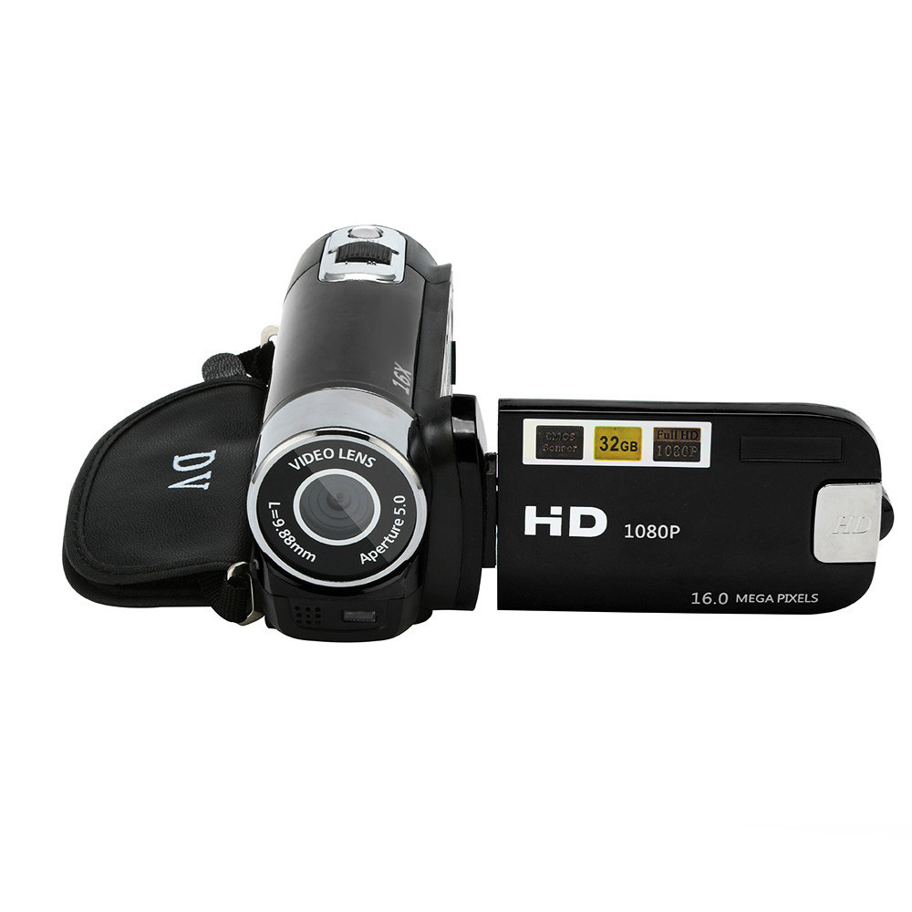 HD 1080P Digital Camera Video Camcorder HD 1080P Handheld Digital Camera 16X Digital Zoom 4