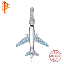 Buy 925 Sterling Silver Aircraft Airplane Pendant Charm Fits Necklace Travel Beads & Jewelry Making Gift for $7.18 in AliExpress store
