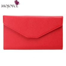 Fashion Envelope Women Wallet Multifunction Zipper Purse Phone Passport Cover Ladies Thin Wallet Coin Card Holder Purses Clutch