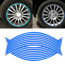 Car Stickers Motorcycle Rim Tape Strips Wheel Sticker And Decals Decoration Motorcycle Car Tape17'' 18""