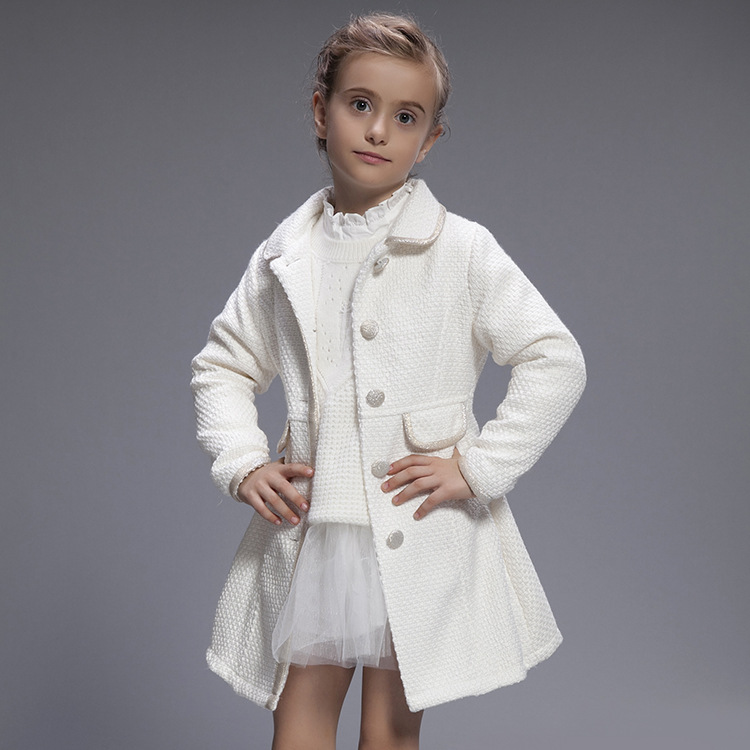 2017 Winter Children Jacket Baby Girls Coat White Princess Trench Coats Girl Lapel Jackets Velvet Warm Outerwear Kids Clothes<br><br>Aliexpress