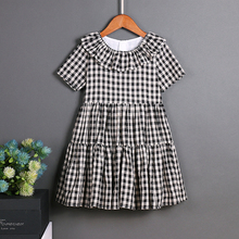 Casual Dresses European Style children clothes women girls family matching clothes mother daughter dresses Cotton Retro A Line(China)