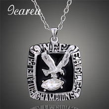 NFL Fans 1980 Philadelphia Eagles Super Bowl Rugby Championship Necklace