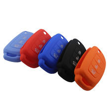 3 Buttons Colorful Silicone Car Key Cover Case For Hyundai i10 i20 IX25 IX35 IX45 Elantra Accent Car Styling Silicone Key Shell(China)