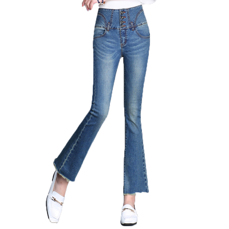 {Guoran} High waist flare jeans pants for women 2017 ankle length fashion denim jeans leggings female trousers summer plus sizeОдежда и ак�е��уары<br><br><br>Aliexpress