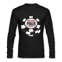 Lowest Price Round Neck Male Tee Latest Male World Series Of Poker Wsop Logo Crew Neck T Shirt Long Pp(China)