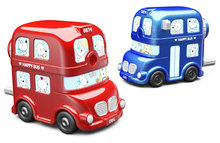 Effective London bus pencil sharpener cute cartoon hand pencil sharpener one piece